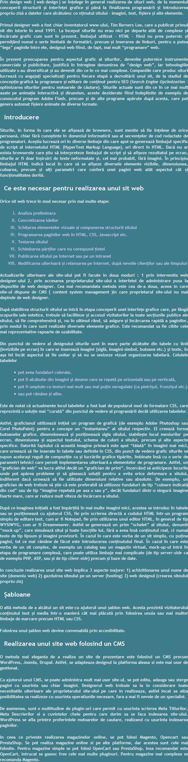 Design Web Brasov Promovare SEO Site
