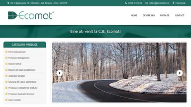 Web Design Brasov Ecomat