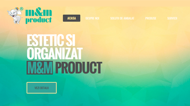 Web Design Brasov M&M Product