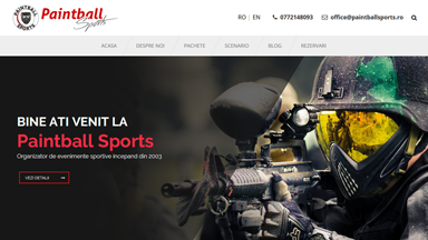 Web Design Brasov Paintball Sports