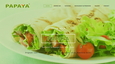Web Design Brasov Papaya Fresh Food