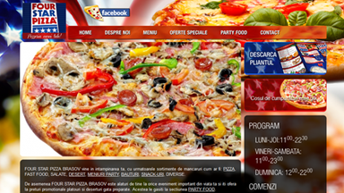Web Design Brasov Four Star Pizza