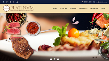 Web Design Brasov Restaurant Platinum