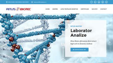 Web Design Brasov Ritus Biotec