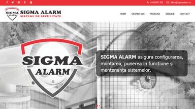 Web Design Brasov Sigma Alarm