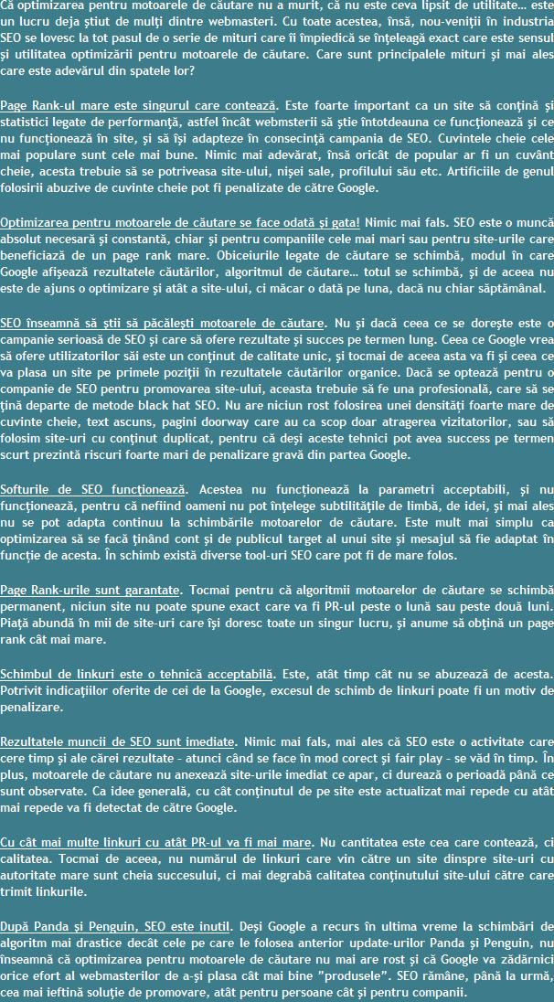 Sfaturi pentru optimizarea SEO Romania