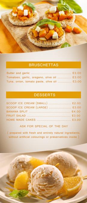 Design Grafic Meniu Restaurant